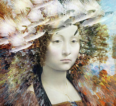 Surrealism Mixed Media - Secret Dreams by Jacky Gerritsen