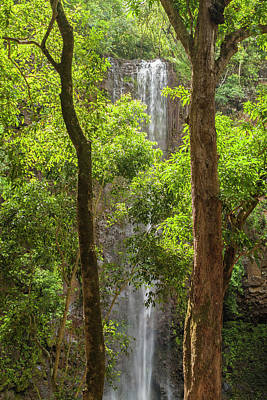 Flowing Water Photograph - Secret Falls 3 - Kauai Hawaii by Brian Harig
