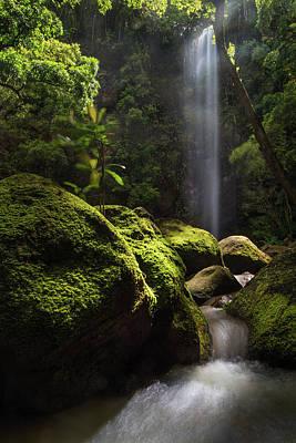 Cavern Light Photograph - Secret Falls by Hudson Marsh