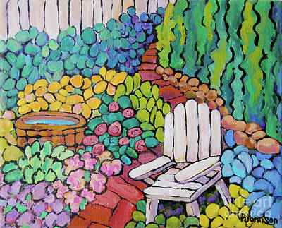 Painting - Secret Garden By Peggy Johnson by Peggy Johnson