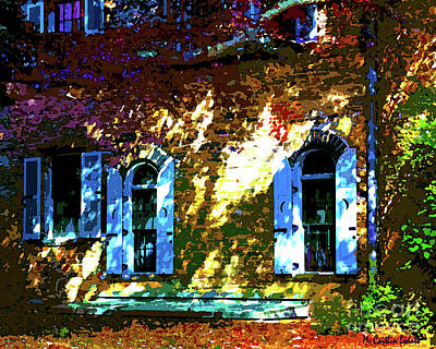 Maple Leaf Art Mixed Media - Secret Garden Castle Windows by Caitlin Lodato
