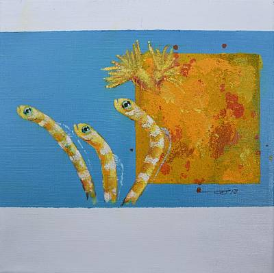 Painting - Secret Garden Eels by Eduard Meinema