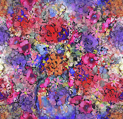 Painting - Secret Garden Flowers by Natalie Holland