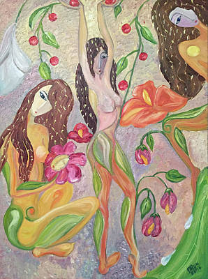 Painting - Secret Garden  by Mila Ryk
