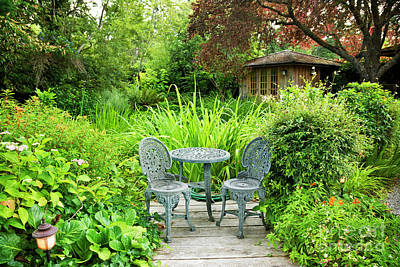 Photograph - Secret Garden Retreat by Maria Janicki