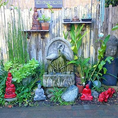 Patio Wall Art - Photograph - Secret Garden Seen In An Ally Way In by Shari Warren