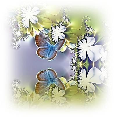Purple Flowers Digital Art - Secret Garden by Sharon Lisa Clarke