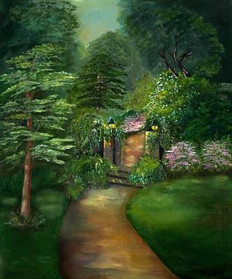 Painting - Secret Garden by Shirley Lawing