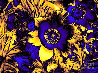 Blue Abstracts Mixed Media - Secret Garden by Steve K