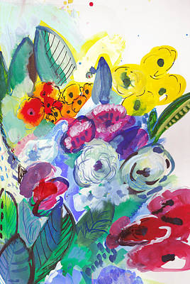 Painting - Secret Garden With Wild Flowers by Amara Dacer