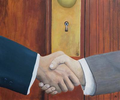 Painting - Secret Handshake by Patrick Kelly