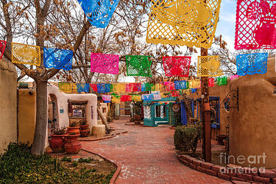 Luminaria Photograph - Secret Passageway At Old Town Albuquerque II - New Mexico by Silvio Ligutti