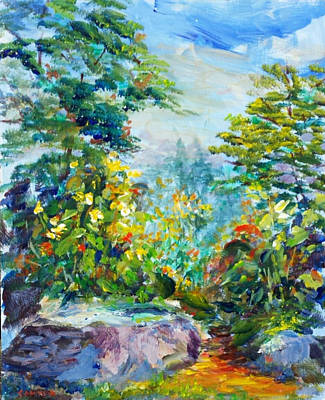 Painting - Secret Path by Laurie Samara-Schlageter