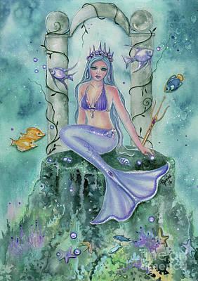 Atlantis Painting - Secret Places Mermaid Art by Renee Lavoie
