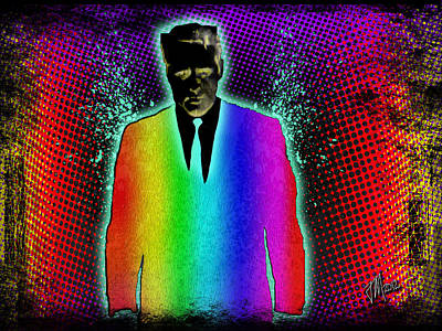 Digital Art - Secret Rainbow Agent by Joe Michelli