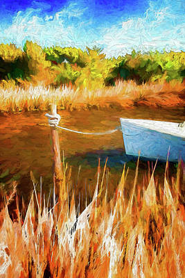 Painting - Secret Treasure On The Outer Banks Ap by Dan Carmichael