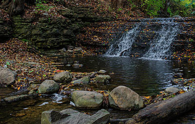 Photograph - Secret Waterfall Elgin Illinois by Deborah Smolinske