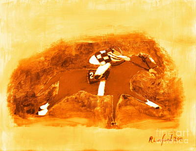 Painting - Secretariat 2. by Richard W Linford