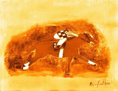 Painting - Secretariat 2. by Richard W Linford