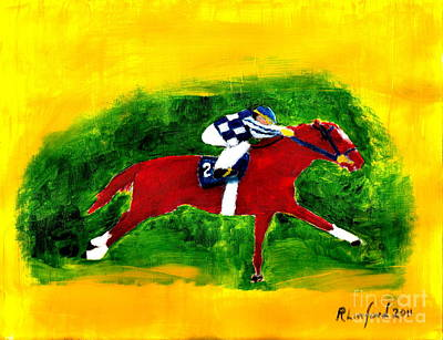 Painting - Secretariat 4 by Richard W Linford