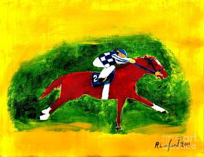 Painting - Secretariat 4 by Richard W Linford