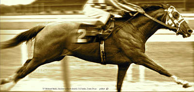Secretariat Is Widening Now He Is Moving Like A Tremendous Machine Art Print