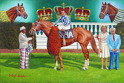 Painting - Secretariat by Howard DUBOIS