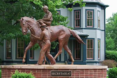 Photograph - Secretariat Statue by Jill Lang