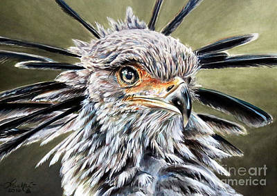 Painting - Secretary Bird by Lachri