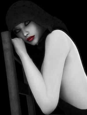 Nude Digital Art - Secretive Lust by Alexander Butler