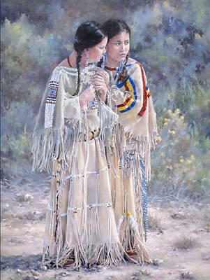 Beadwork Painting - Secrets by Judith Moore-Knapp