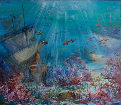 Secrets Of The Deep Sea Original by Angelika Fomicheva