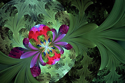Digital Art - Secrets Plants Keep Abstract by Georgiana Romanovna
