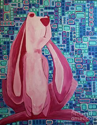 Painting - Security Blanket Bunny by Donna Howard