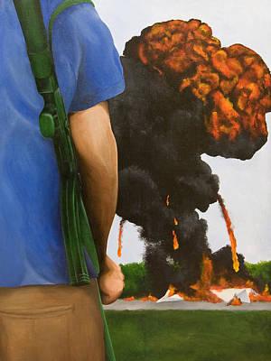 Ak-47 Painting - Security Breach by Josh Bernstein