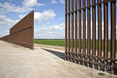 International Border Photograph - Security Fence Between Us & Mexico by Inga Spence