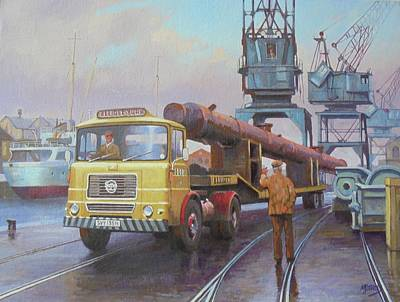 Painting - Seddon At The Docks. by Mike Jeffries
