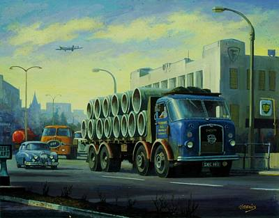 Painting - Seddon Dd8 At Firestone Building. by Mike Jeffries