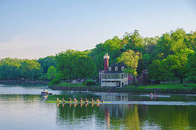 Phillies Digital Art - Sedgeley Club - Boathouse Row by Bill Cannon