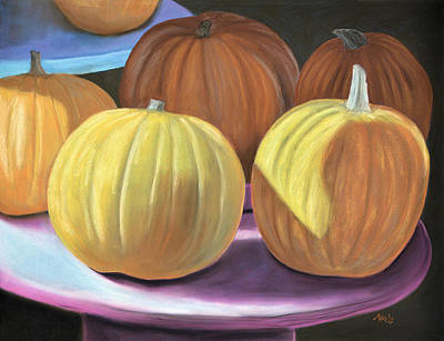 Pastel - Sedillo Pumpkins by Jan Amiss