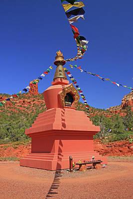 Photograph - Sedona # 20 - Amitabha Stupa And Peace Park by Allen Beatty