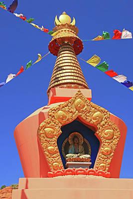 Photograph - Sedona # 21 - Amitabha Stupa And Peace Park by Allen Beatty