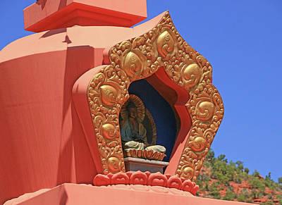 Photograph - Sedona # 22 - Amitabha Stupa And Peace Park by Allen Beatty
