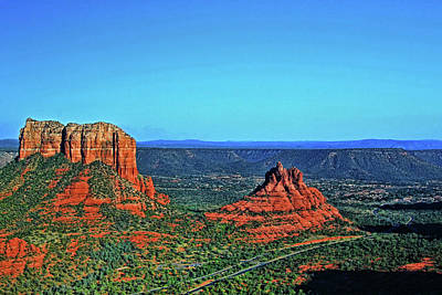 Photograph - Sedona # 32 - Courthouse Rock And Bell Rock by Allen Beatty