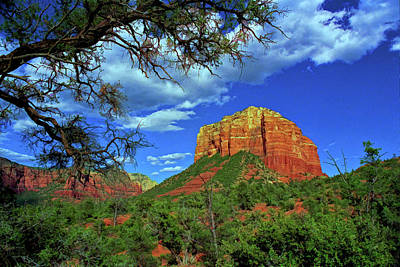 Photograph - Sedona # 38 - Courthouse Rock by Allen Beatty