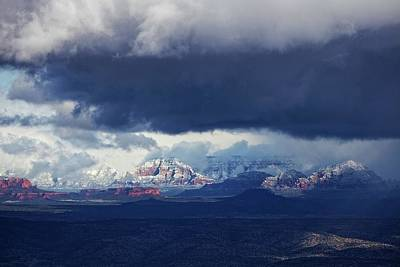 Art Print featuring the photograph Sedona Area Third Winter Storm by Ron Chilston