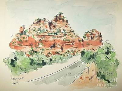 Painting - Sedona, Arizona by Maria Langgle
