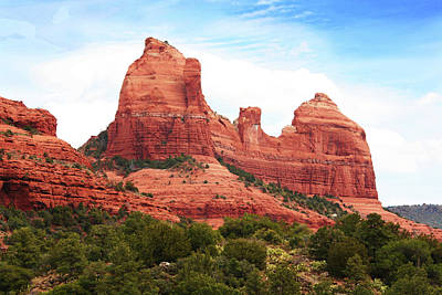 Photograph - Sedona Arizona Monumental Rocks by Irina Sztukowski