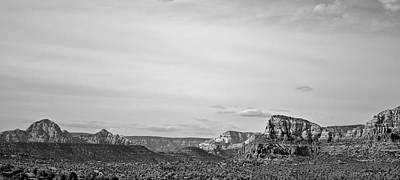 Photograph - Sedona Arizona Panorama I Bw by David Gordon