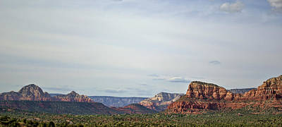 Sedona Arizona Panorama I Art Print by Dave Gordon